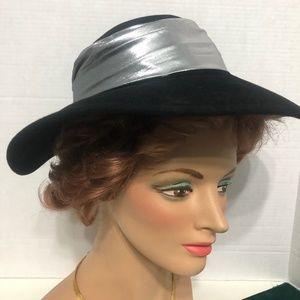 Vintage Black Designer Hat